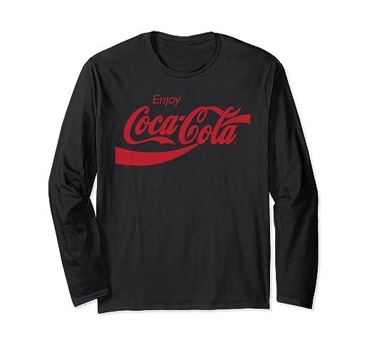 9f0fef90 ... Amazon com Coca Cola Classic Logo Long Sleeve T shirt Clothing