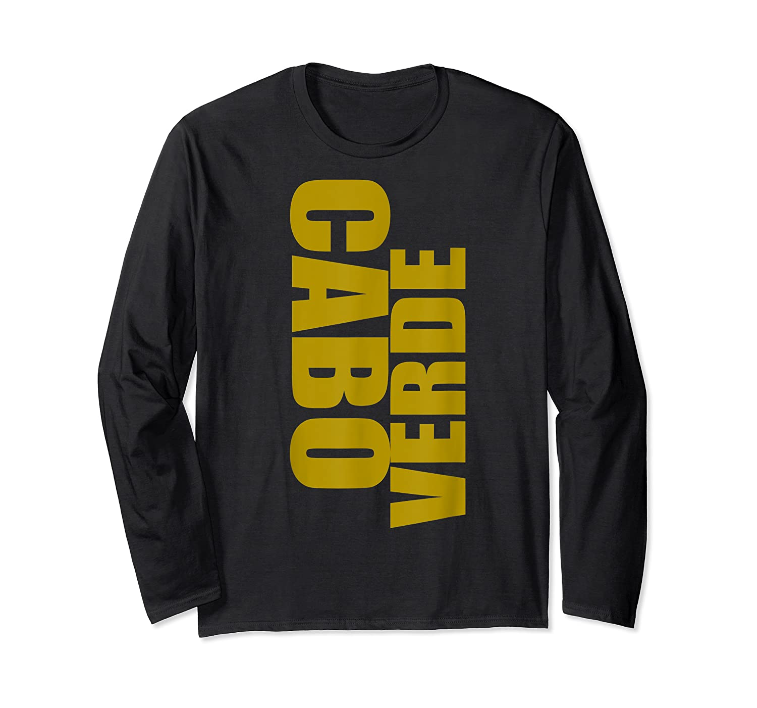 Cabo Verde Side Words Shirts Long Sleeve T-shirt