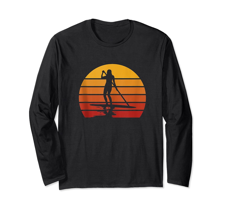 Stand Up Paddling Sup Vintage Sunset Paddle Board Gift Shirts Long Sleeve T-shirt