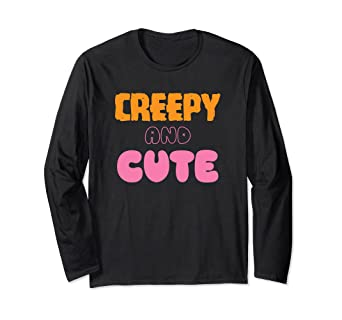 3002a2ec Image Unavailable. Image not available for. Color: Creepy And Cute  Halloween Long Sleeve