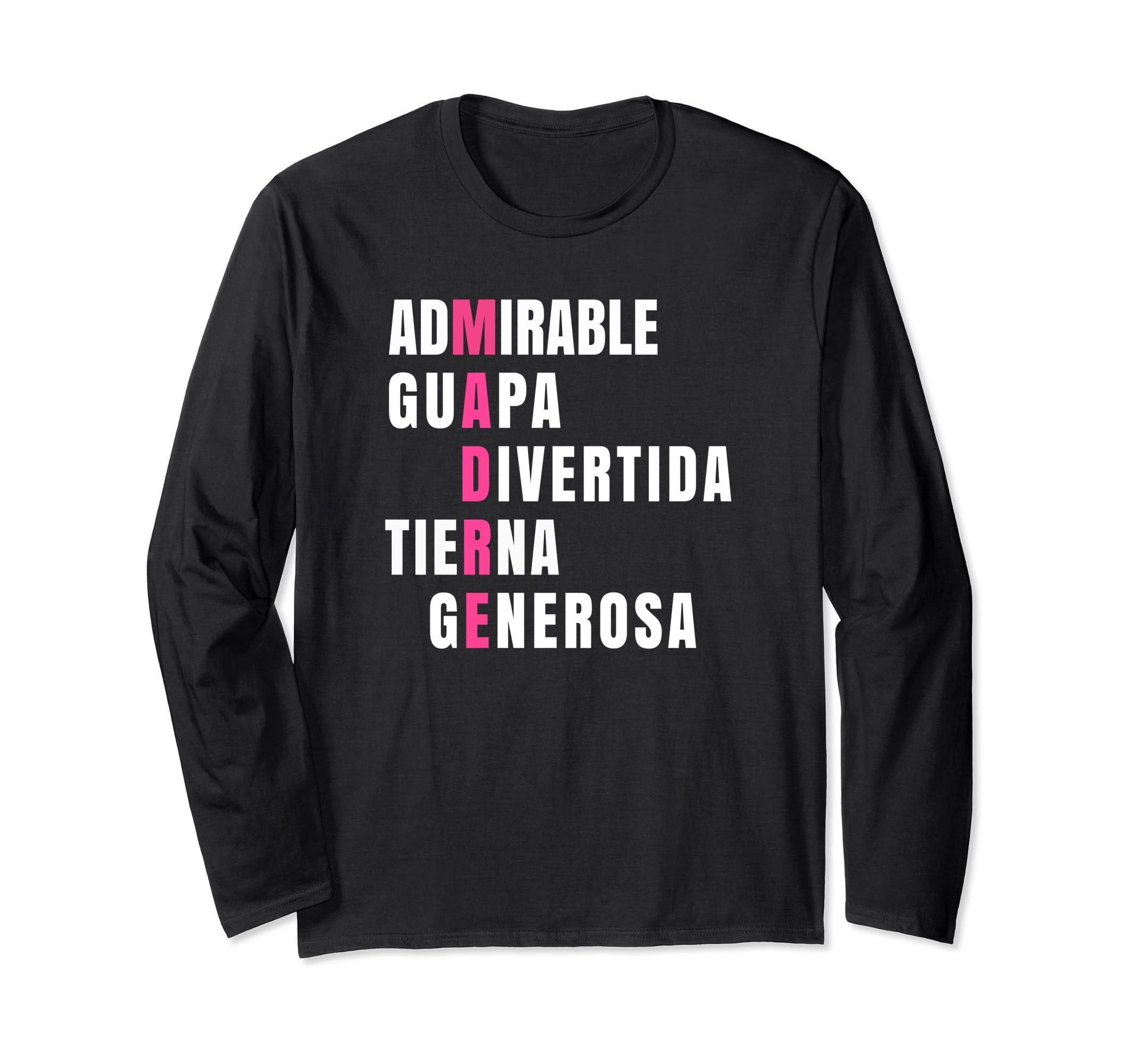 Amazon.com: Camisetas manga larga para Mujer Madres Navidad Cumpleanos: Clothing