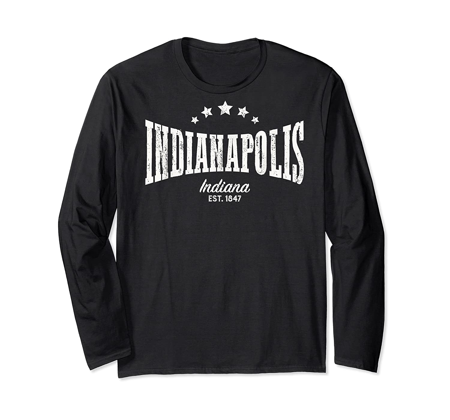 Indianapolis In Shirt Distressed Vintage Home City Pride Long Sleeve T-shirt