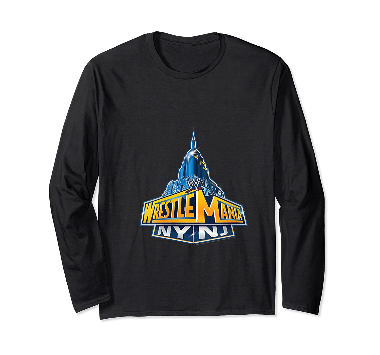 Wwe Wrestle Mania Nynj Shirts Long Sleeve T-shirt