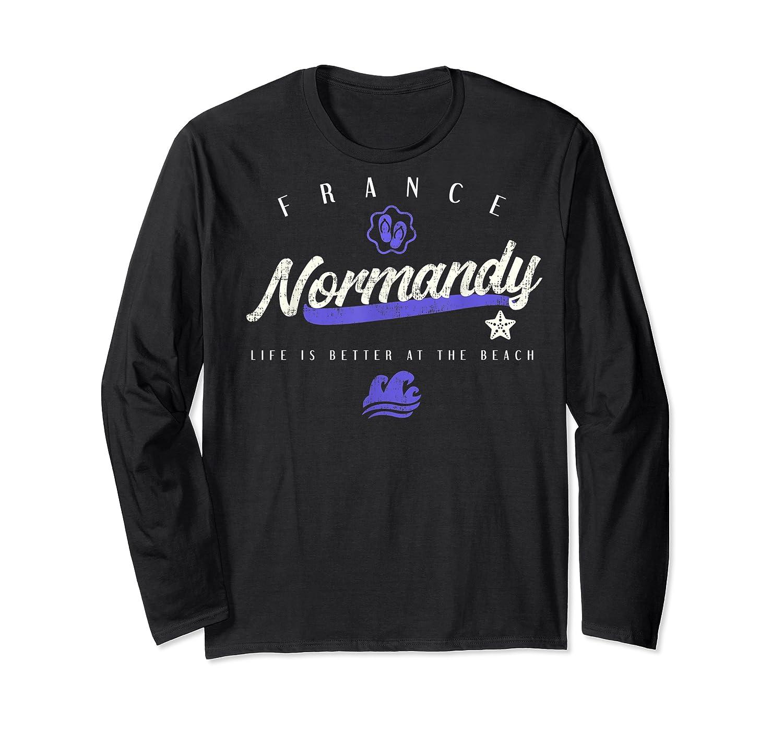 Normandy France Beach T Shirt Long Sleeve T-shirt