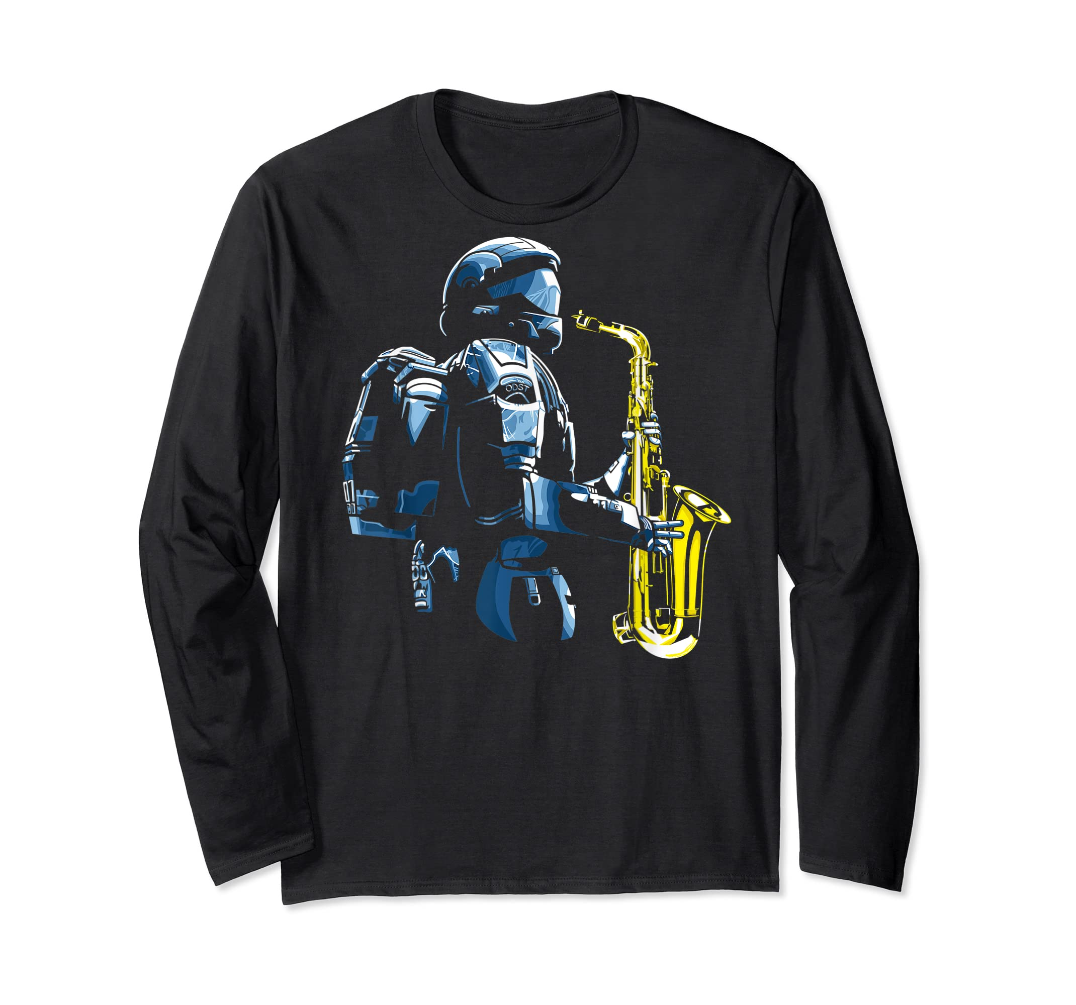 Halo ODST Jazz T-Shirt-Long Sleeve-Black