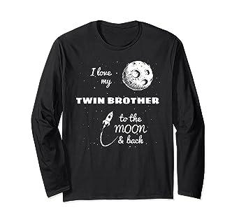 Amazon I Love My Twin Brother Family Gift Long Sleeve Shirt