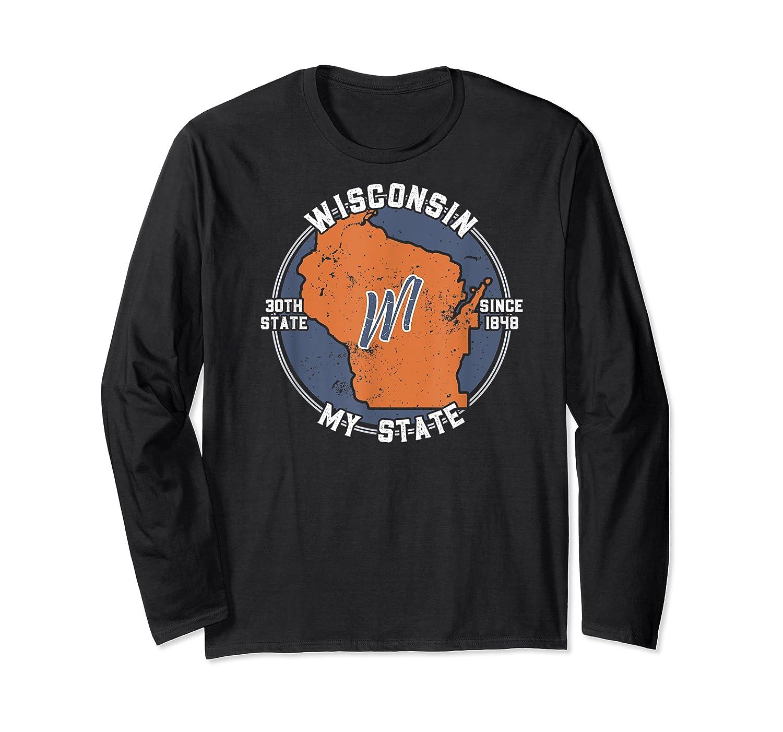 Wisconsin State Tourist Gift Shirts Long Sleeve T-shirt