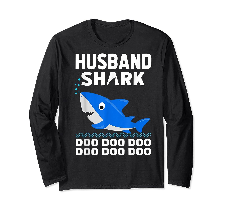 Husband Shark Doo Doo Shirt For Matching Family Pajamas Long Sleeve T-shirt