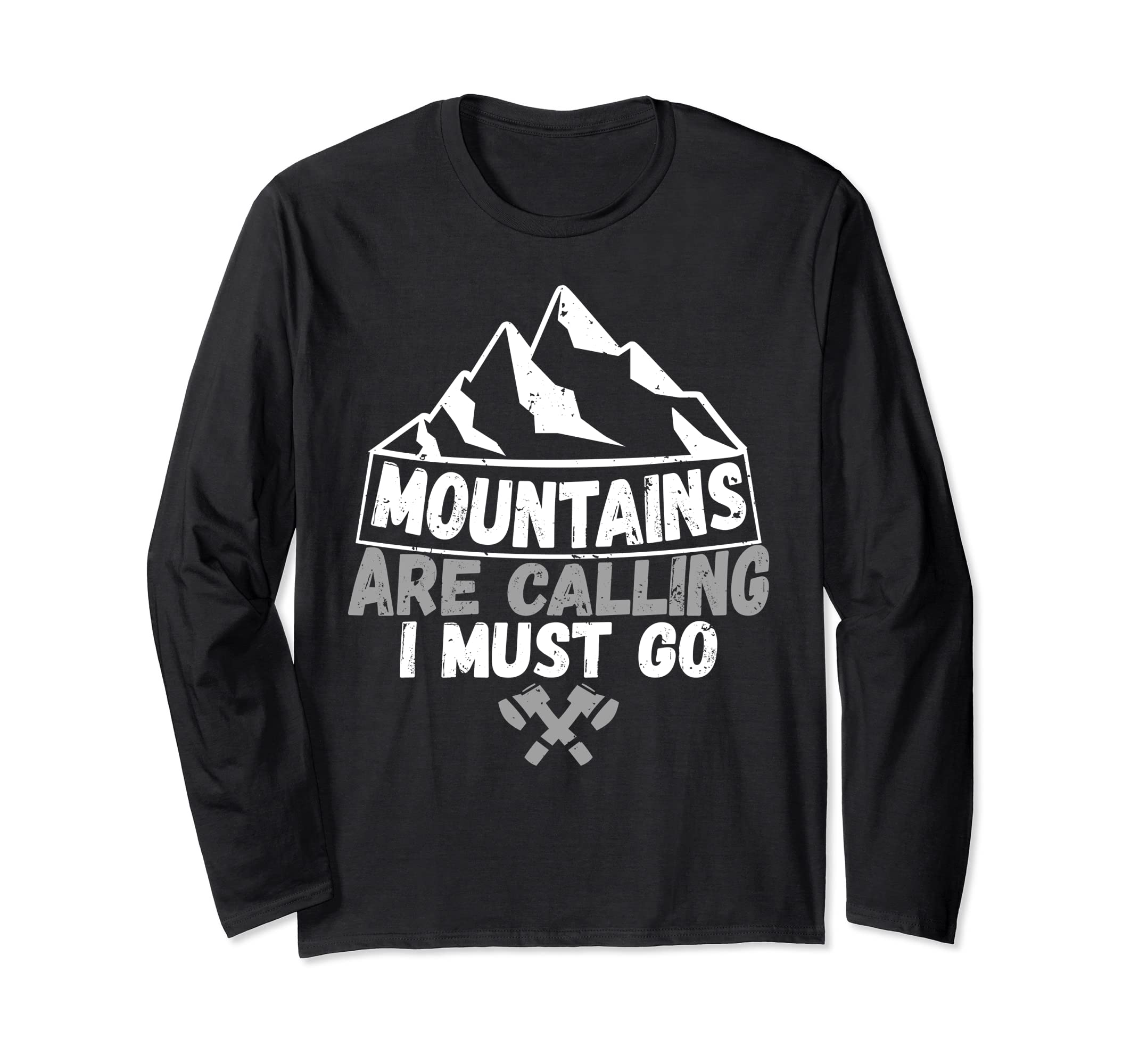 9814bee9e Amazon.com: Mountains Are Calling I Must Go Hiking Nature Lover T-Shirt:  Clothing