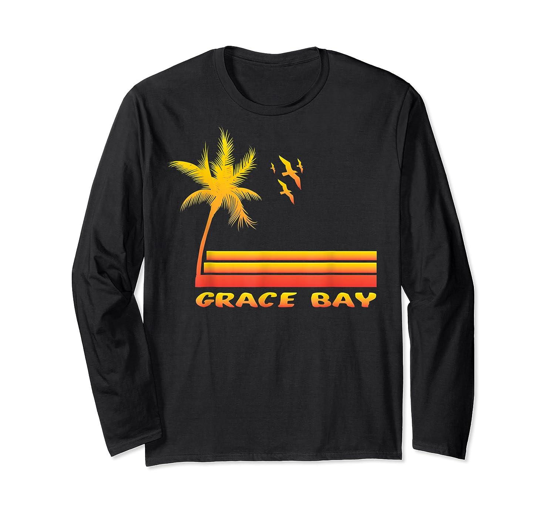 Retro Grace Bay Beach T-shirt Island Paradise Shirt Long Sleeve T-shirt