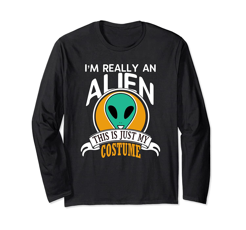 Alien Halloween Costume Long Sleeve Shirt