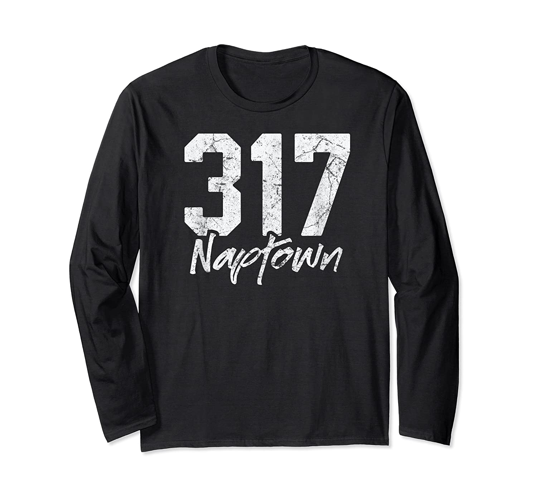 Naptown Shirt 317 Naptown Area Code Vintage Gift T Shirt Long Sleeve T-shirt
