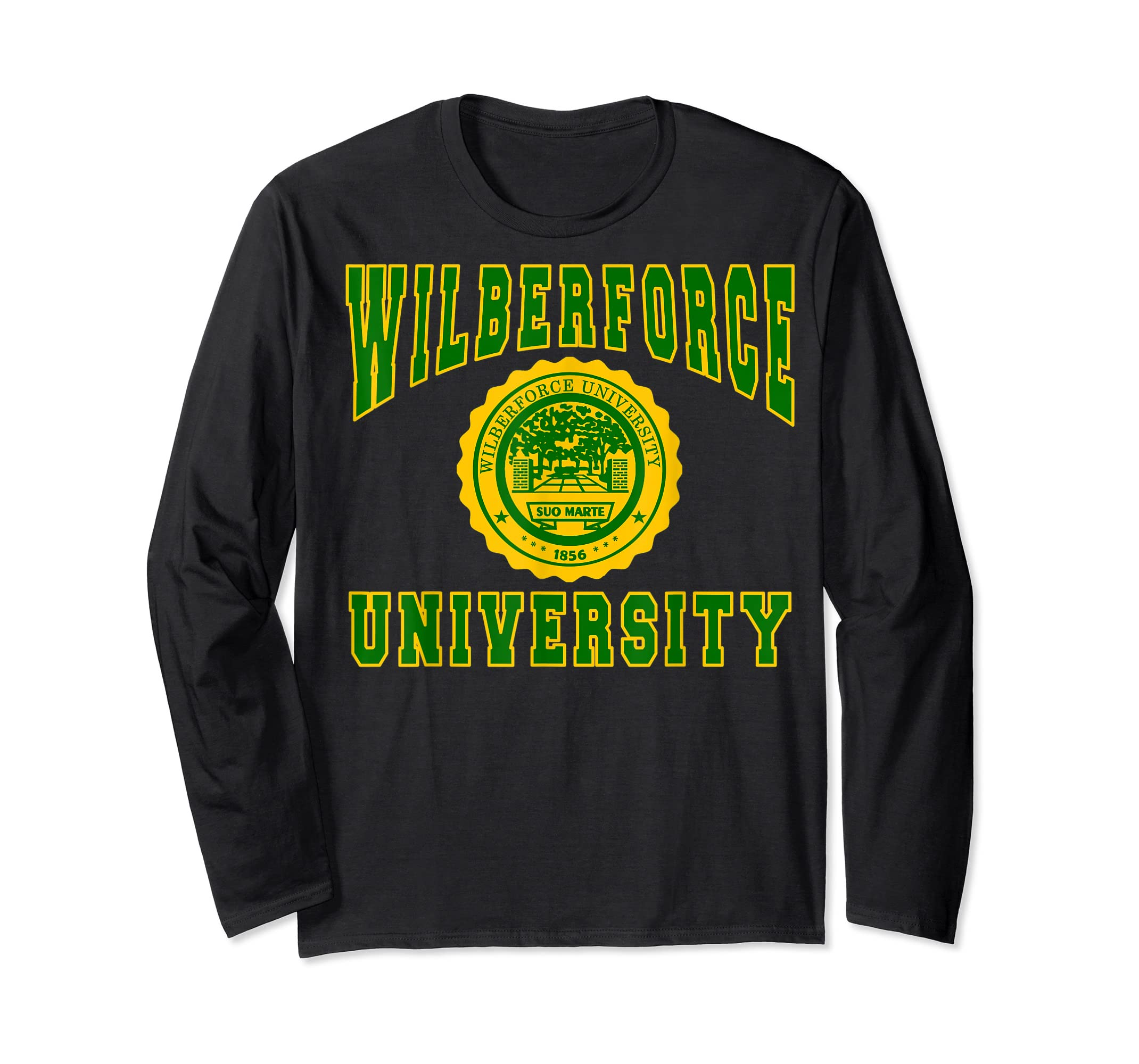 Wilberforce 1856 University Apparel - T shirt-Long Sleeve-Black
