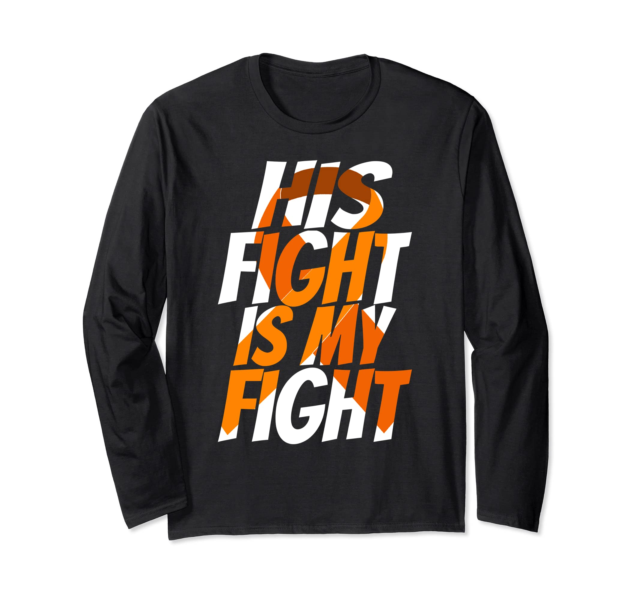 Orange Ribbon Leukemia Awareness Shirt Family Support gift