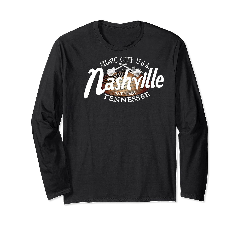 Nashville Tn Tshirt Vintage Music City Usa Est 1806 Gift Long Sleeve T-shirt