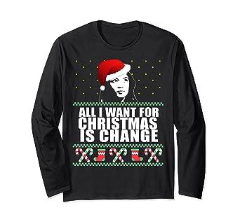 3b3545e8d081 Amazon.com: CHANGE Alexandria Ocasio-Cortez Shirt Ugly Christmas ...