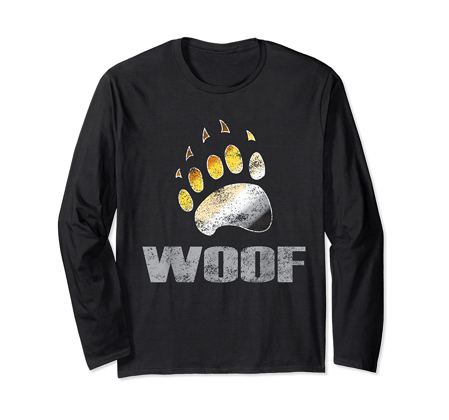 Bear Pride Woof Bear Claw Symbol Distressed For Shirts Long Sleeve T-shirt