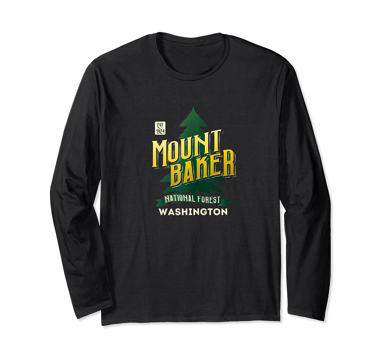 Mount Baker National Forest Retro Logo Washington Tank Top Shirts Long Sleeve T-shirt