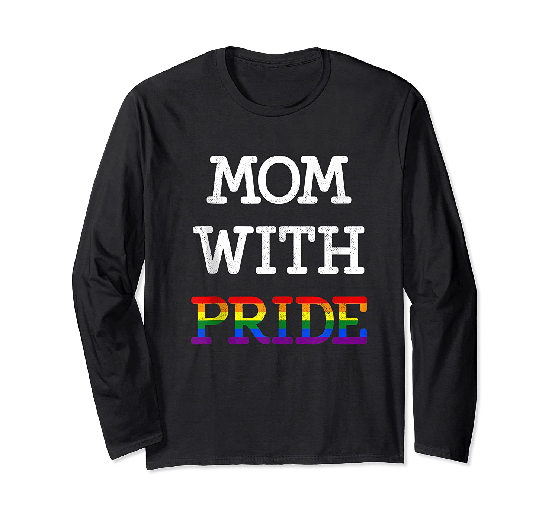 Mom With Pride Lgbt Rainbow Tank Top Shirts Long Sleeve T-shirt