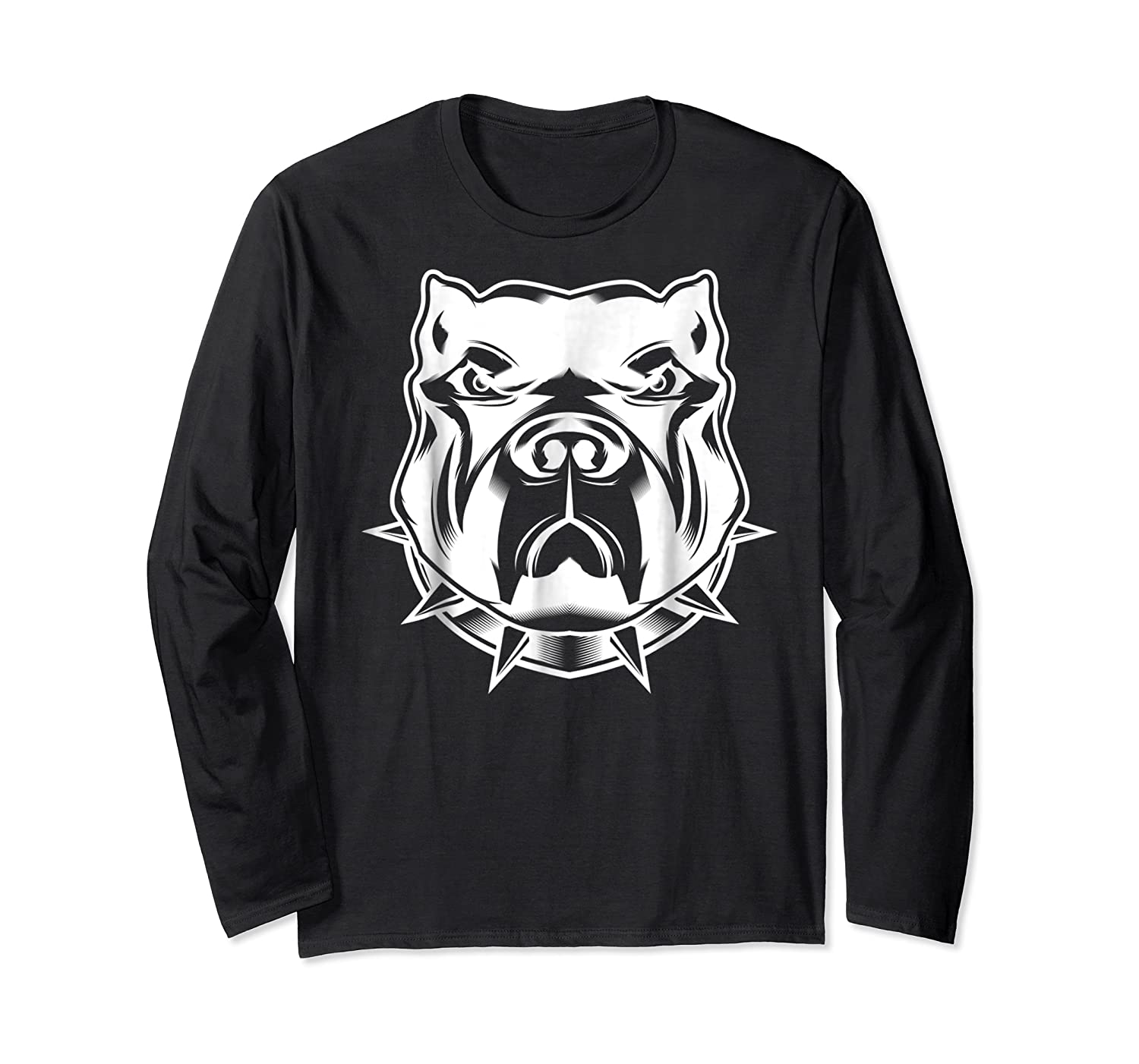 Pit Bull Face T For Pitbull And Apbt Lovers Shirts Long Sleeve T-shirt