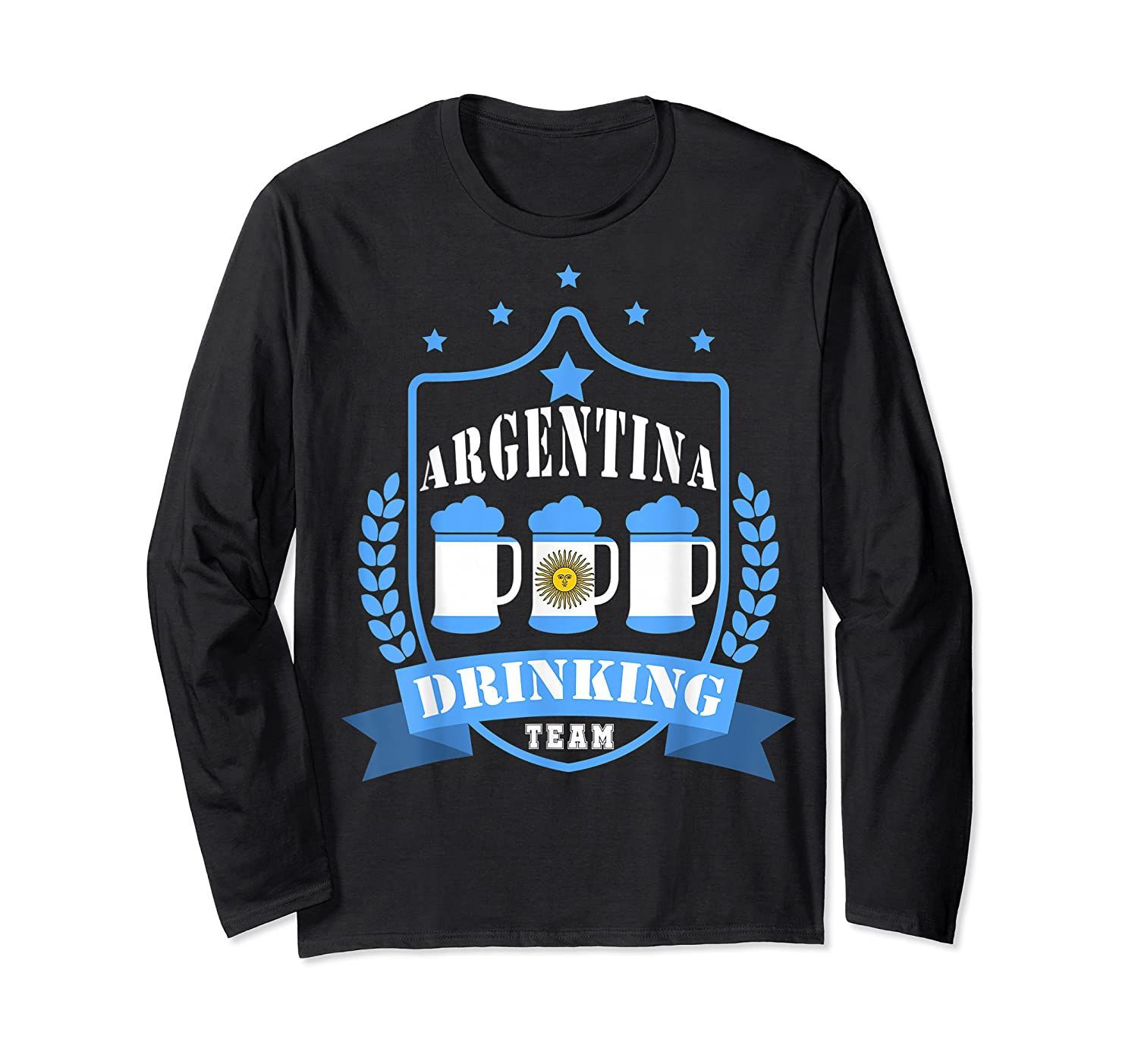 Beer Argentina Drinking Team Casual Argentina Flag T-shirt Long Sleeve T-shirt