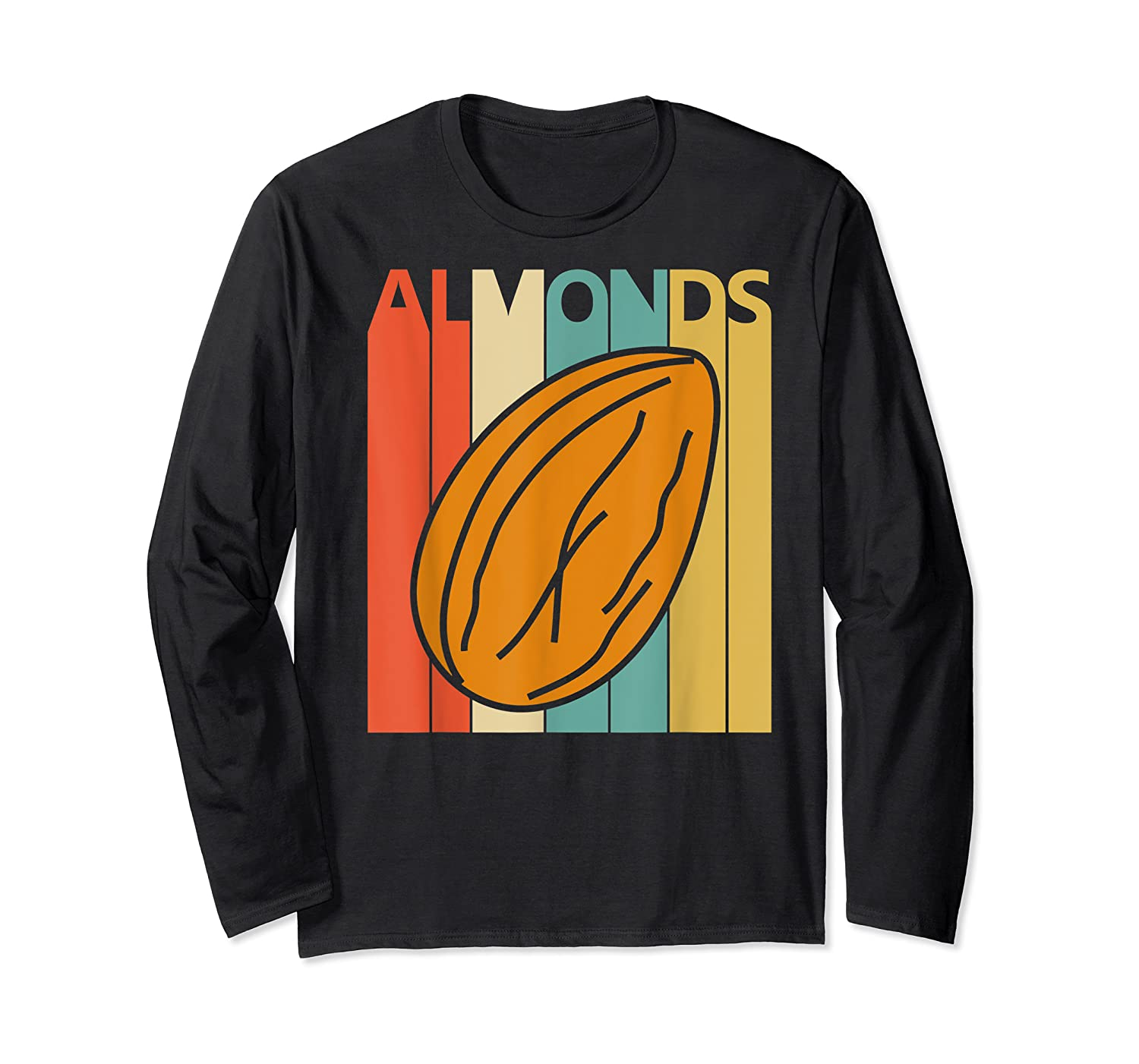 Vintage Retro Almonds Almond Nuts Gift Shirts Long Sleeve T-shirt
