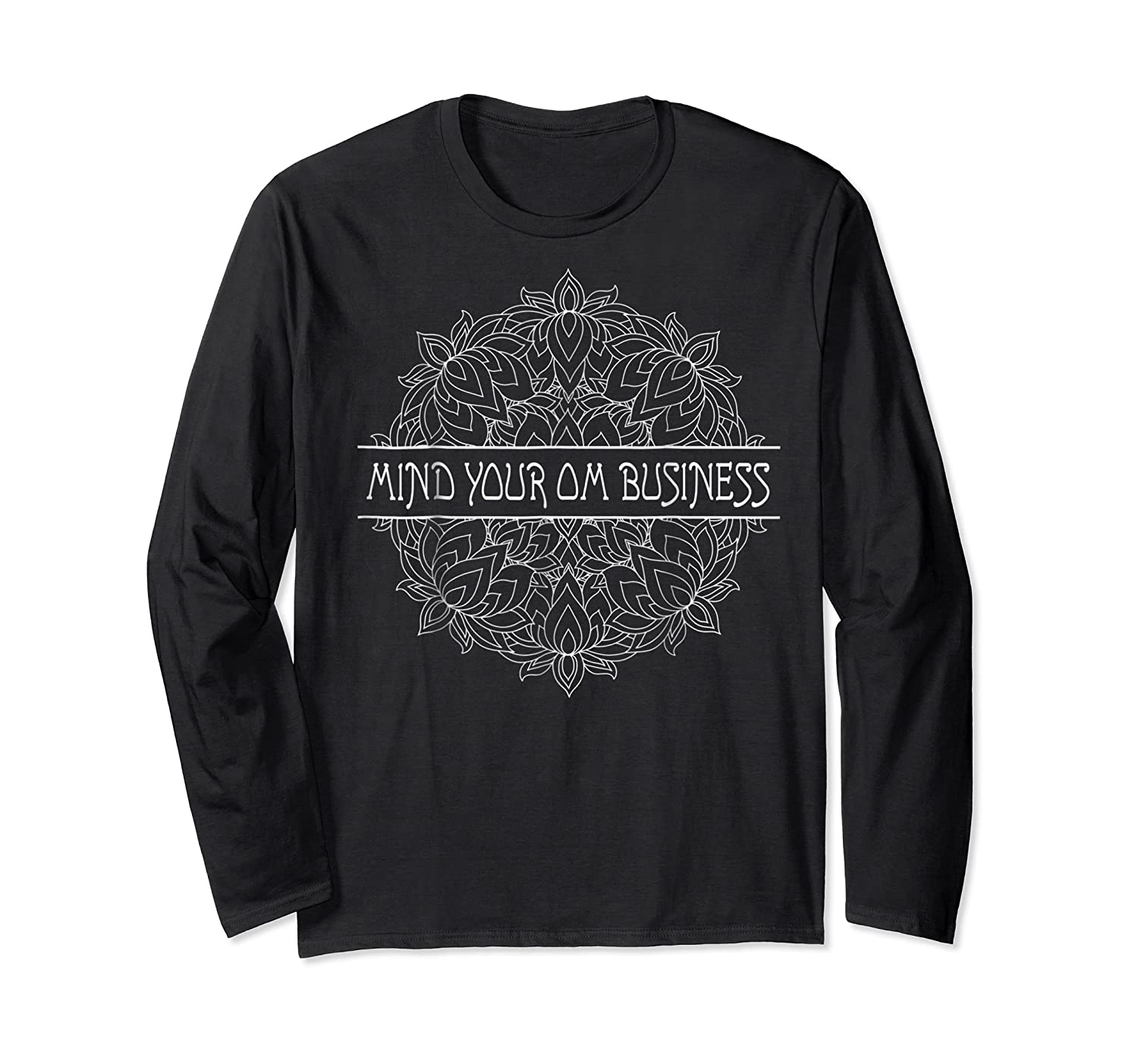 Mind Your Om Business Geometric Graphic Shirts Long Sleeve T-shirt