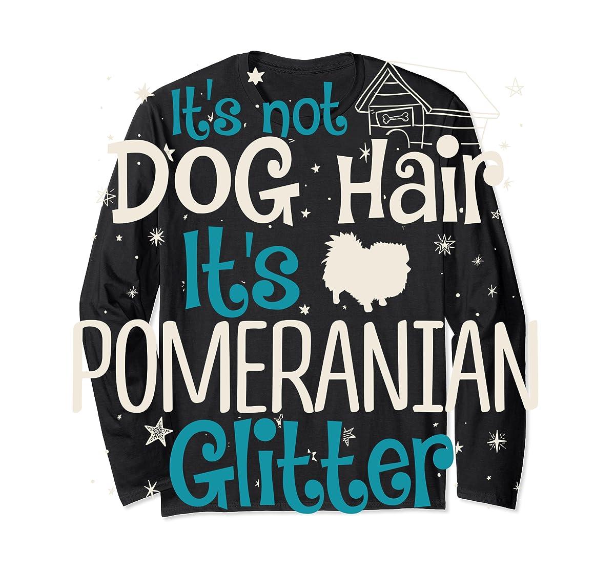 It's Not Dog Hair It's Pomeranian Glitter T-Shirt-Long Sleeve-Black