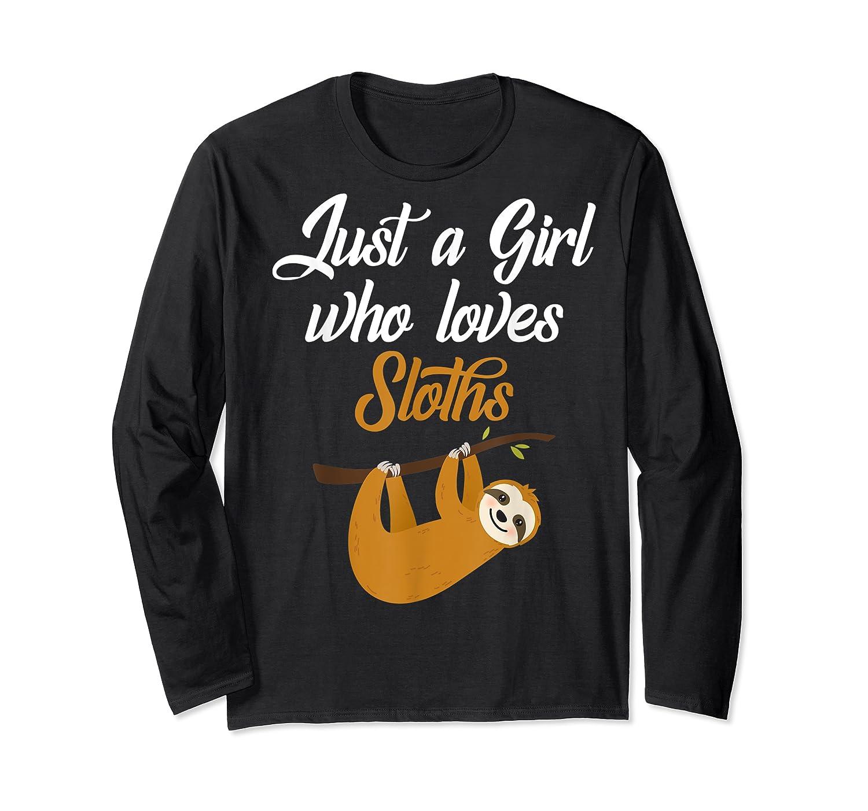 Just A Girl Who Loves Sloths Adorable Sleepy Animals Shirts Long Sleeve T-shirt