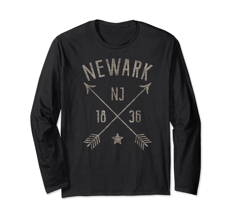 Newark Nj T Shirt Cool Vintage Retro Style Home City Long Sleeve T-shirt