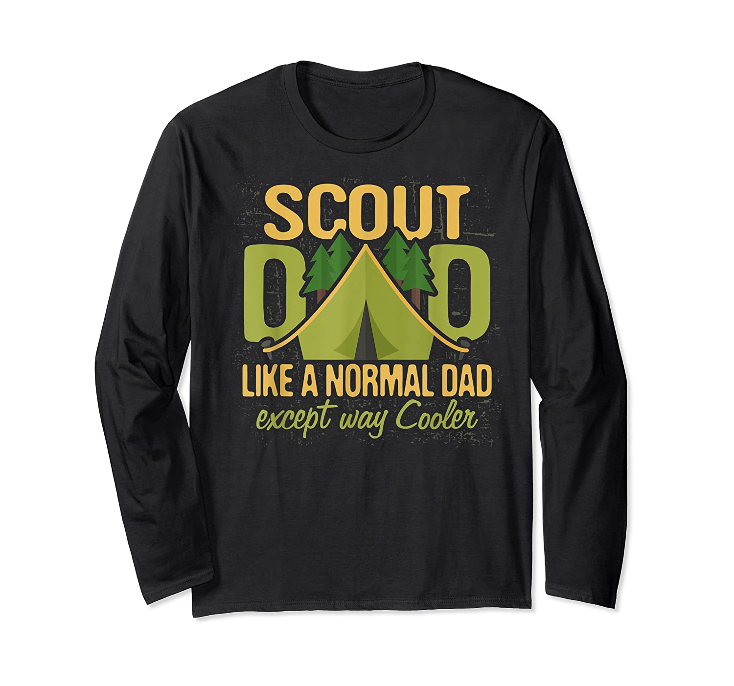 Scout Dad Cub Leader Boy Camping Scouting Gift Shirts Long Sleeve T-shirt