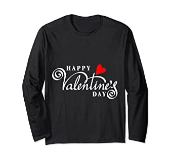 Amazoncom Happy Valentines Day T Shirt With Cool Cursive Font