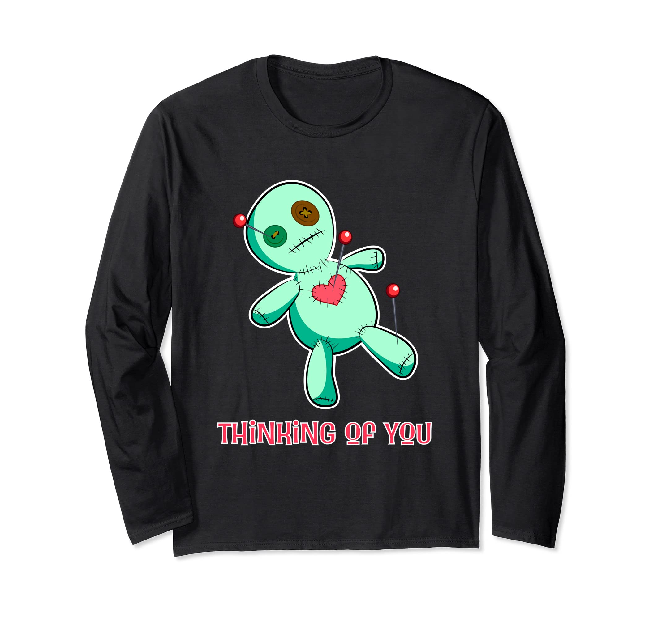Funny Voodoo Doll Long Sleeved Shirt, Halloween shirt-mt