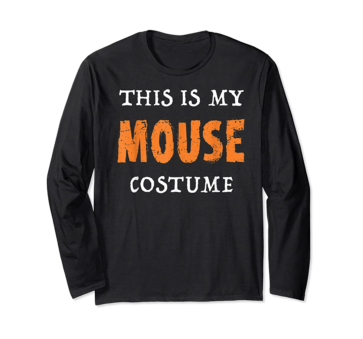 Funny This Is My Mouse Costume Halloween  T-Shirt-Long Sleeve-Black