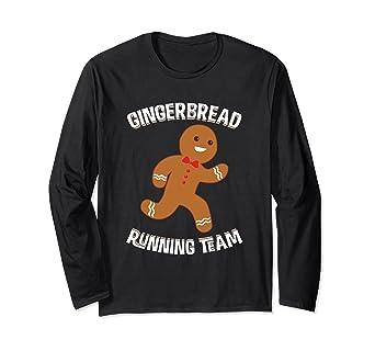Gingerbread Running Team Christmas Runner Long sleeve Shirt