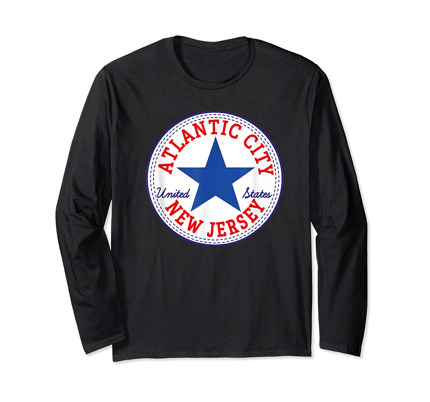 Atlantic City New Usa United States Out T Shirt Long Sleeve T-shirt