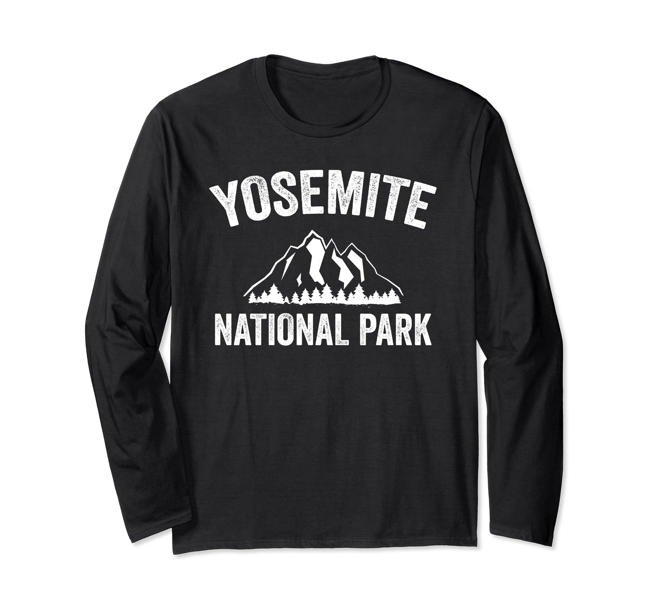 Yosemite National Park Long Sleeve Shirt America USA-Awarplus