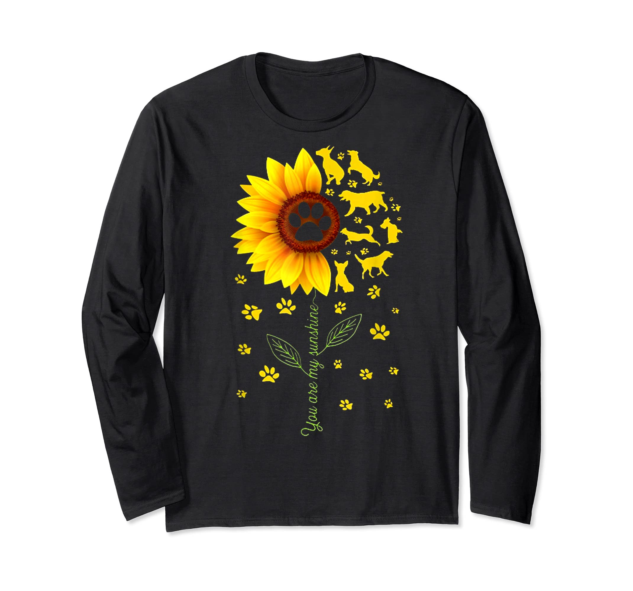 You are my Sunshine t-shirt-Long Sleeve-Black