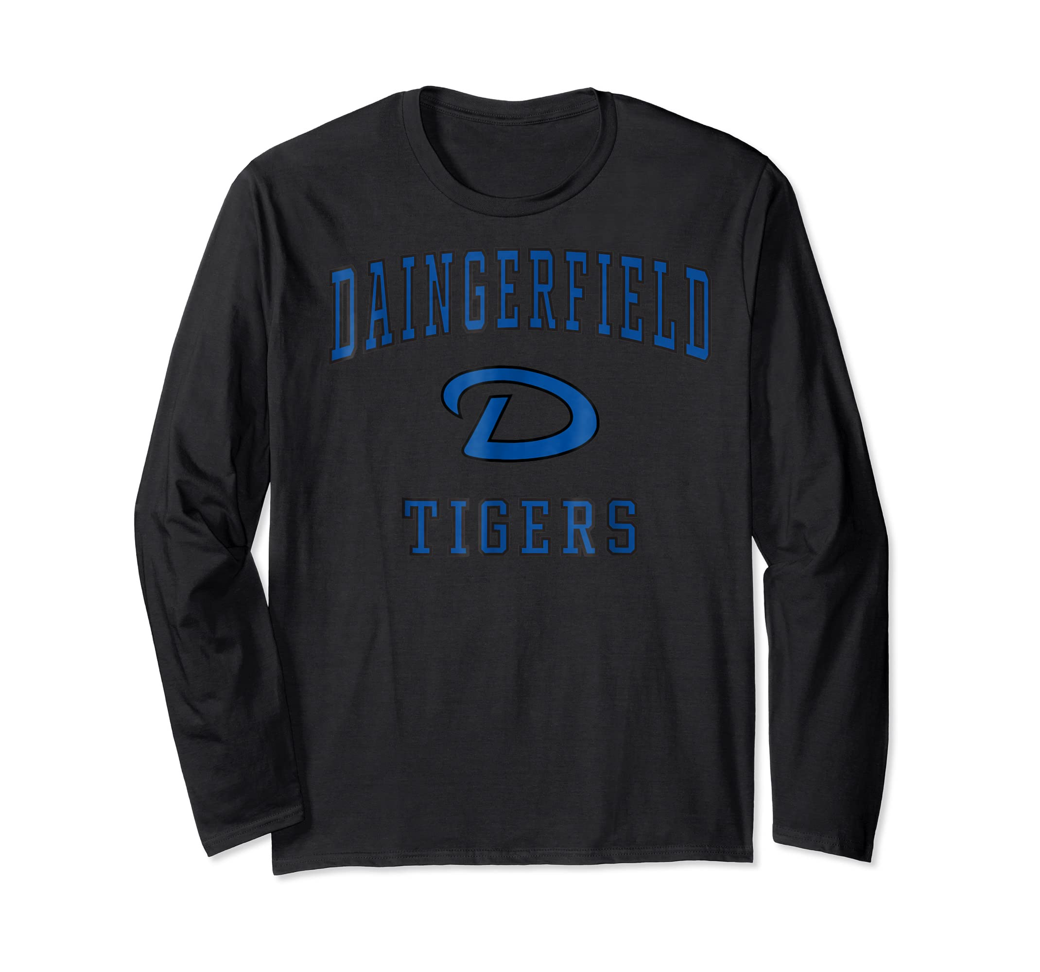 Daingerfield High School Tigers T-Shirt C1-Long Sleeve-Black