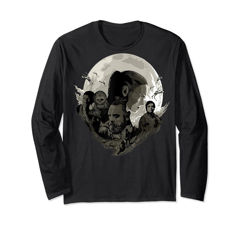 Star Wars Last Jedi Rebels Moon Silhouette Graphic T-shirt Long Sleeve T-shirt