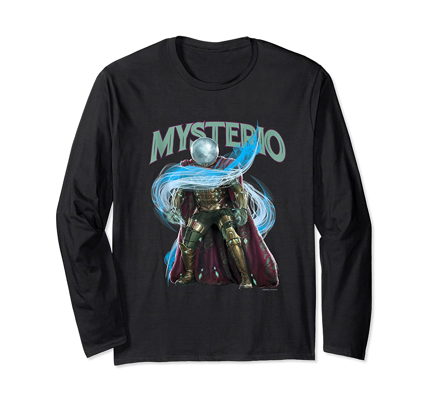 Spider Man Far From Home Mysterio Stance Shirts Long Sleeve T-shirt