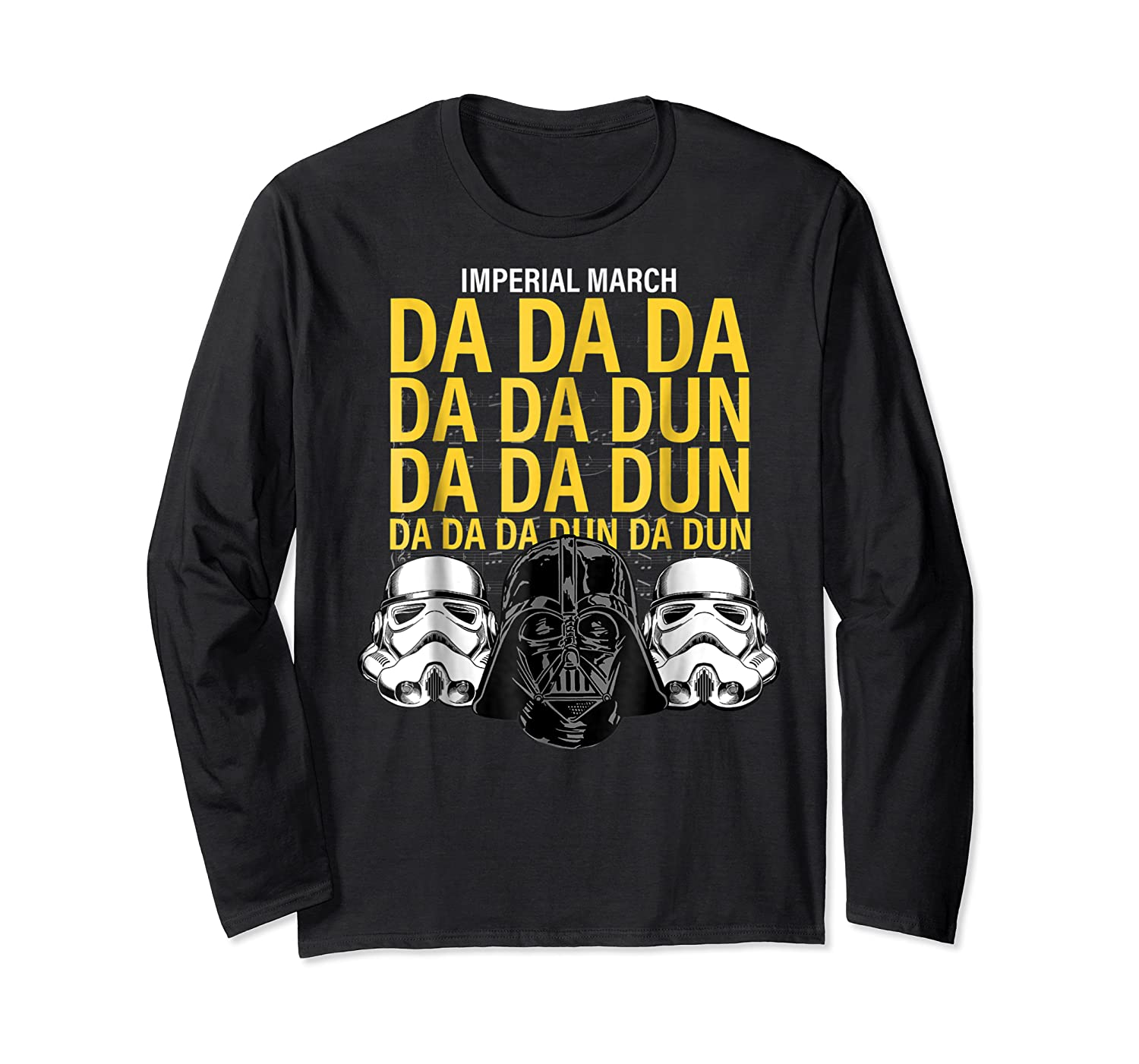 S Darth Vader Imperial March Graphic Shirts Long Sleeve T-shirt