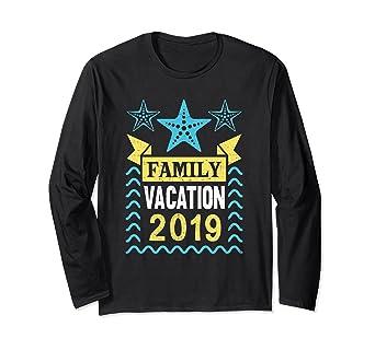 1bc65d250491 Amazon.com  Family Vacation 2019 T-Shirt Beach Sea Getaway Gift LS ...