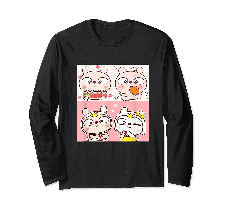 Super Cute Silly Rabbit Love Story Unisex Humor T Shirt Long Sleeve T-shirt