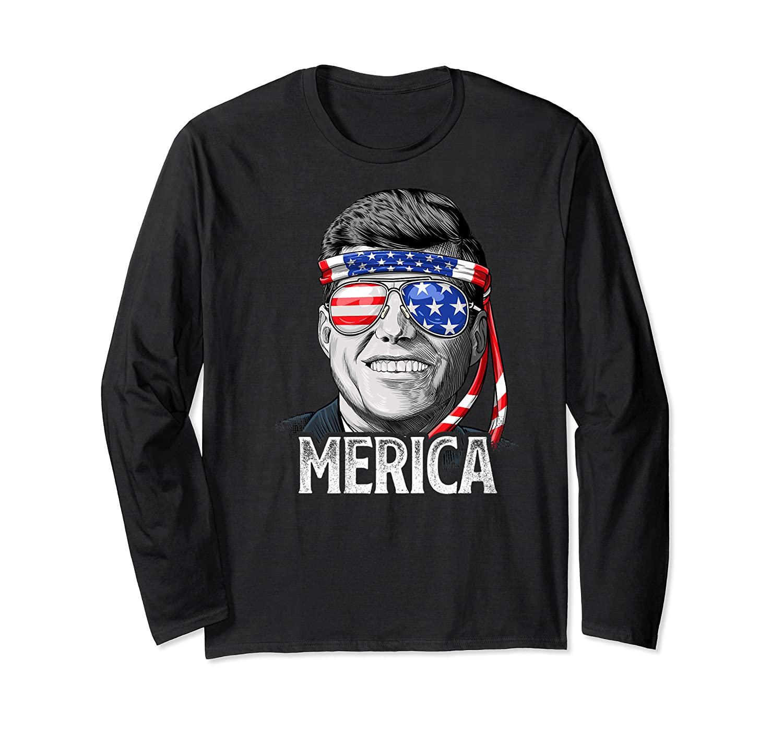Kennedy Merica 4th Of July President Jfk Gifts Shirts Long Sleeve T-shirt