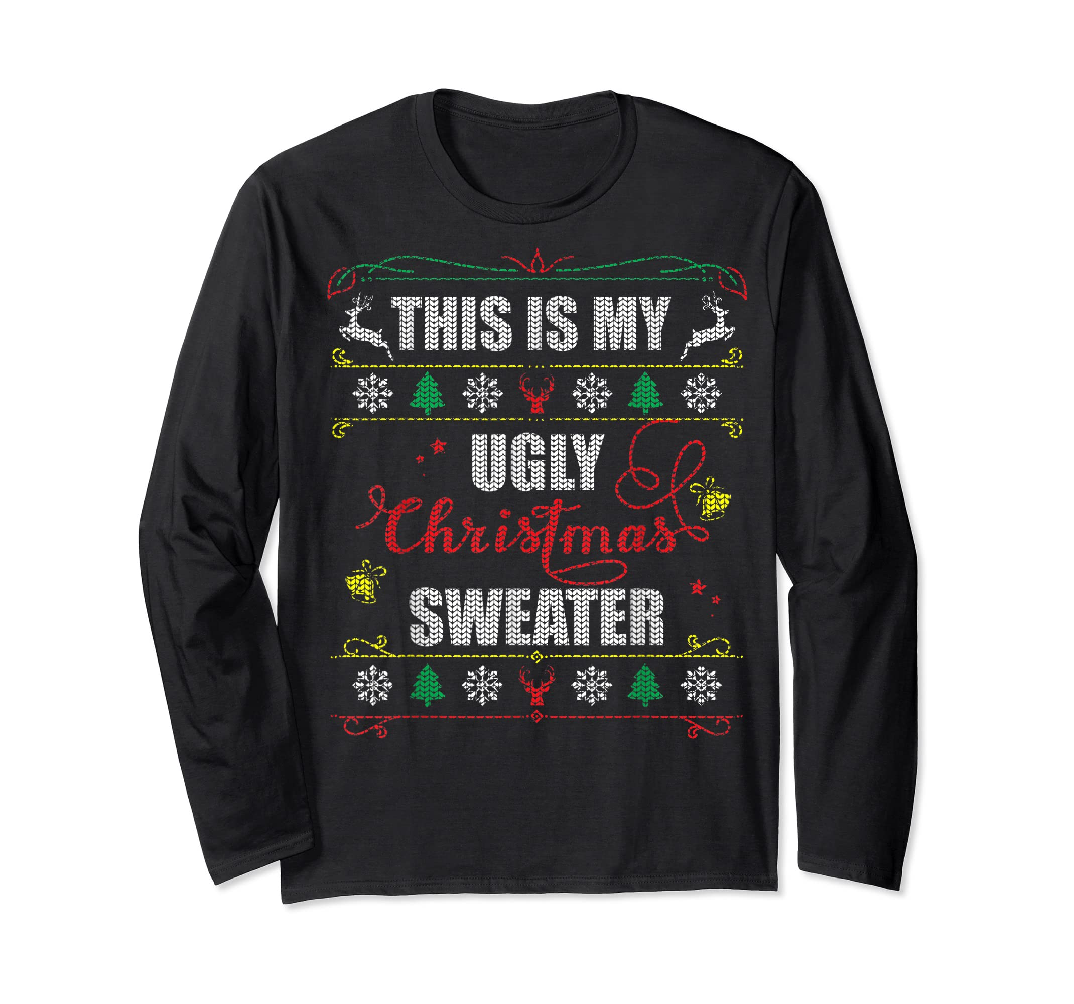 This Is My Ugly Christmas T-Shirt-Long Sleeve-Black