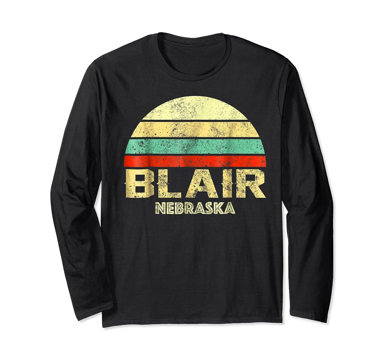 Blair Ne Nebraska Vintage Retro Sunset Tee T Shirt Long Sleeve T-shirt