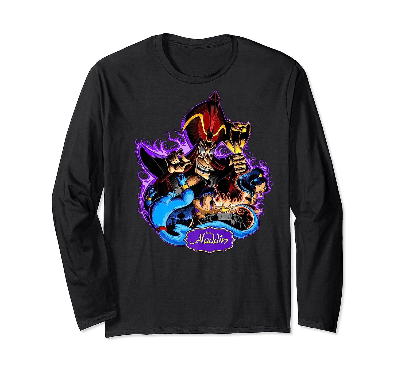 Disney Aladdin Main Cast Collage Portrait Logo Premium T-shirt Long Sleeve T-shirt