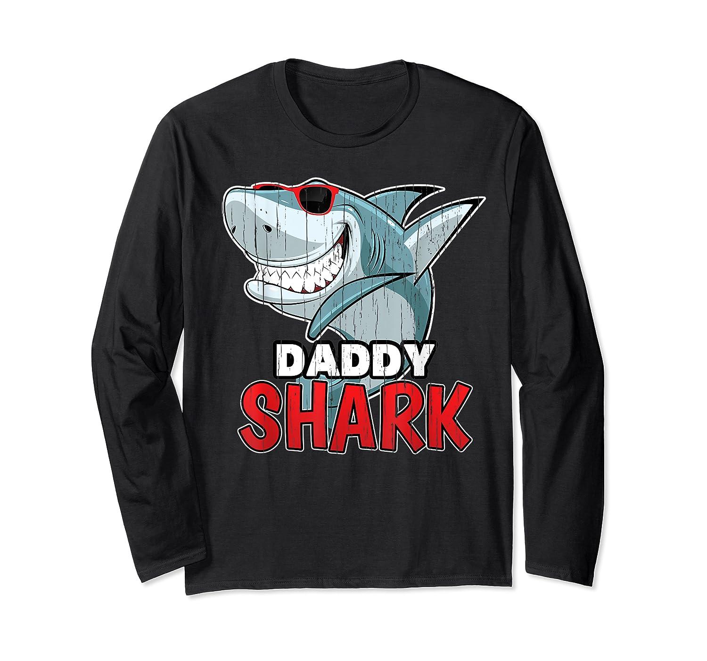 Dabbing Daddy Shark Fathers Day Gift Matching Shirts Long Sleeve T-shirt