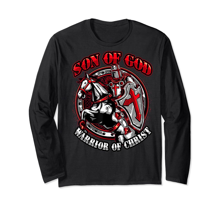 Knights Templar Tshirt Son Of God Warrior Of Christ Long Sleeve T-shirt